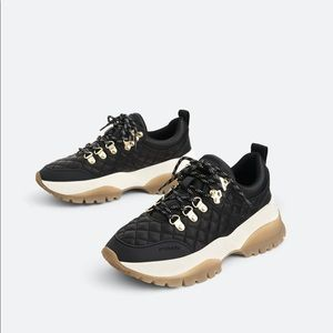 Chunky Leather Sneakers